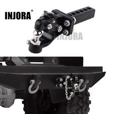 Metal Alloy Adjustable Drop Hitch Receiver for 1/10 RC Axial SCX10 Traxxas TRX4