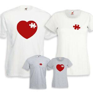 Heart PUZZLES Love Me Valentine's day gift girlfriend boyfriend valentine tshirt