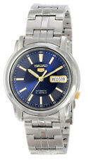 Seiko Automatic SNKL79 SNKL79K1 Men Day Date Blue Dial Stainless Steel Watch