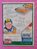 1999 Magazine Advertisement Page Hefty Cinch Sak Kitchen Trash Bag Bags Art Ad