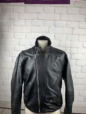 LA Roxx Vintage genuine Moto Leather Jacket 1980's size 46 men or women's
