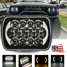 120W CREE 7''x6'' LED Headlight Hi-Lo Beam Halo DRL Bulb For Jeep XJ H6014/H6054