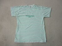 VINTAGE Guess Shirt Adult Medium White Green Striped Spell Out ASAP Mens 90s