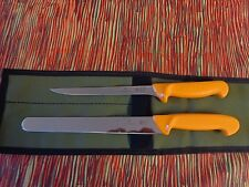 SWIBO 3 PIECE BARRA BOAT KNIFE PACKAGE SWISS HARD STAINLESS  AUSSIE MADE WRAP