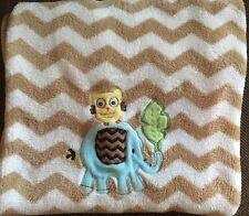 Circo Baby Blanket Elephant Owl Tan Beige Brown White Chevron Zig Zag Target