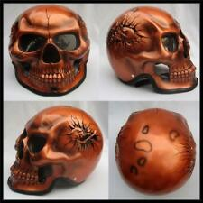 Motorcycle Helmet Skull Skeleton Ghost Rider Full Face Airbrush S - XXL