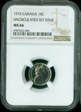 1973 CANADA 10 CENT  NGC MS66