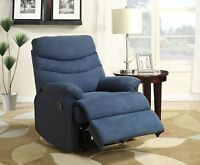 Microfiber Upholstered Manual Recliner Chair Home Living Room Seating Furniture