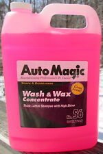SOAP WASH & WAX CONCENTRATE by Auto Magic, Rinses Easily & Glossy Finish,1 GAL