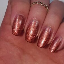 SHIMMERY COPPER BROWN Shiny Nail Polish 15ml indie 5-free handmade cruelty-free