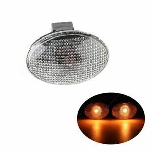 2PCS Side Marker Indicator Light Lens W/Bulbs For Ford Transit MK6 MK7 2000-2013