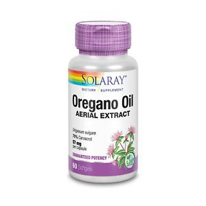 Solaray Oregano Oil 70% Carvacrol Supplement | 60 Count