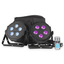 American DJ ADJ VPar Pak RGBA Wash Light or uplight 2x Par Can + Bag + Remote