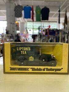 VINTAGE MATCHBOX LESNEY MODEL OF YESTERYEAR  1927 TALBOT VAN  LIPTON TEA NOS