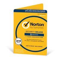 NORTON Security Deluxe 2018/5 dispositivo/1 ANNO/Windows/Mac/Android