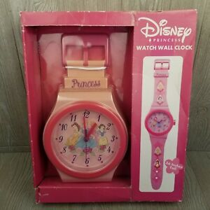 Disney Princess Watch Wall Clock 36 Inches Tall - Wristwatch Style New In Box