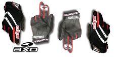 AXO Fastrack Double Fingered Gloves BMX MTB  Size 10 Large   White/Red/Black