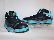 2013 NIKE AIR JORDAN 6 VI RINGS BLACK GREY GAMMA BLUE YELLOW 322992-089 MENS 13