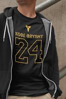 LA KOBE BRYANT T SHIRT Tee Black Mamba 24 Jersey Size S-4XL