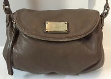 Marc By Marc Jacobs Workwear Taupe Pebbled Leather Pleated Crossbody Hobo Bag