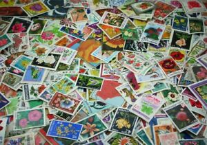 Flowers and Fruits wonderful collection made up of 1000 different stamps (Lot#DP