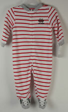 Carters One Piece Footed Pajamas 9 Months Baseball All Star Daddys #01 NWT New