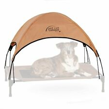 KH Manufacturing Pet Cot Canopy Large Tan 30-inch by 42inch Shades Pets From Sun