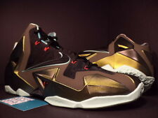 2013 Nike LEBRON XI 11 KING'S PRIDE PARACHUTE GOLD LODEN BLACK 616175-700 10.5
