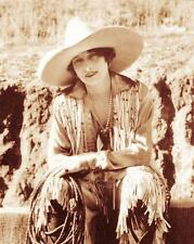 OLD WEST COWGIRL RODEO QUEEN VERA MCGINNIS VINTAGE PHOTO BOOTS HAT c1930 #21262
