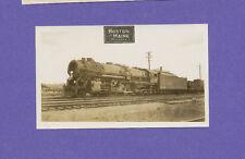 Boston & Maine 2-8-4 Locomotive #4019 - Vintage B&W Railroad Photo