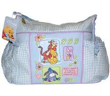 Disney Winnie Pooh Tigger Piglet Baby Blue Checker Tote Diaper Bag NEW