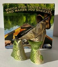 Basic Cigarettes Advertising Bass Fish Salt And Pepper Shakers Fishing 2007 Box