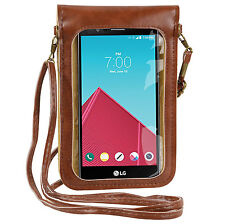 PU Leather Crossbody Bag Case Pouch for LG G6 / V20 / Google Pixel XL / HTC Bolt