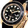 ROLEX YACHTMASTER 116655 40 mm EVEROSE PINK ROSE GOLD 116655 OYSTERFLEX BLACK