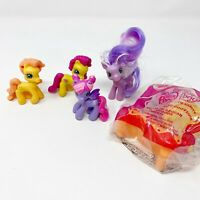 My Little Pony G3.5 Lot of 5 Ponyville Mini Figures McDonalds Toy in Bag