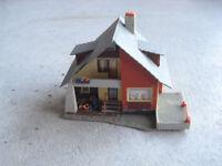 Vintage HO Scale Faller 214 Plastic Cottage House Building