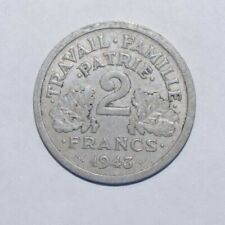 1943, 2 Francs France High Value Coin