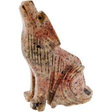 2 Inch Wolf Spirit Animal Dolomite Figurine Assorted