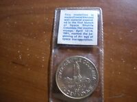 STS-1 flown metal Blended  coin from Space Shuttle Columbia, VERY RARE!
