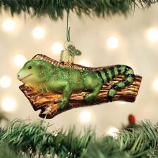 INGE GLAS DIEGO IGUANA LIZARD GERMAN BLOWN GLASS CHRISTMAS TREE ORNAMENT