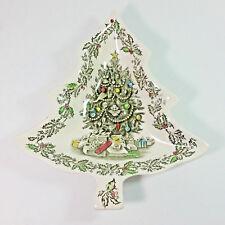 "Vintage Johnson Bros. Merry Christmas Tree Candy Dish 8"""