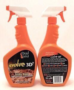 2 DEAD DOWN WIND DUAL PURPOSE BROAD EVOLVE 3D+ ODOR CONTROL SPRAY 32oz  NEW
