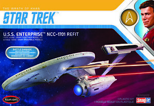 Polar Lights POL974M 1/1000 Star Trek U.S.S. Enterprise Refit Wrath of Khan 2T P