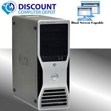 Dell Precision Workstation Computer PC Windows 10 Pro Quad Core Xeon 8GB 500GB