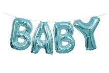 Azul Bebé Letra GLOBOS Pancarta Kit - NUEVO Baby Shower Decoración Fiesta