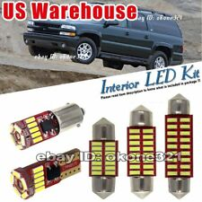 11-pc Xenon 6000k White LED Lights Interior Package Kit Fit 00-06 Chevy Suburban