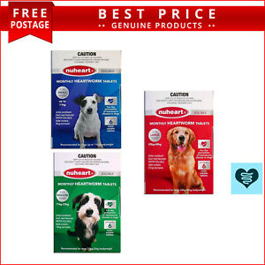 NUHEART All Sizes 6 Doses for Dogs Heartworm Prevention