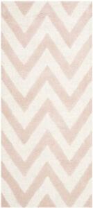 Safavieh Cambridge LIGHT PINK / IVORY Wool Runner 2' 6 x 12' - CAM139M-212