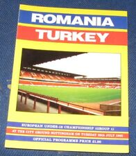 ROMANIA -V- TURKEY  20TH JULY 1993