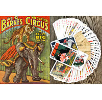 Playing Cards (Poker Deck 54Card) CIRCUS Animals Clown Vintage FlonzGift 652-003
